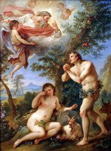 Adan y Eva rogando perdon