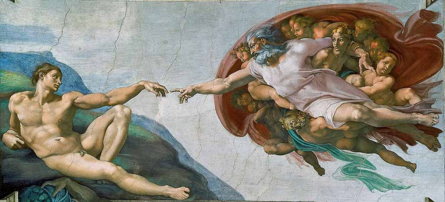 La-creación-de-Adán-de-Miguel-Ángel