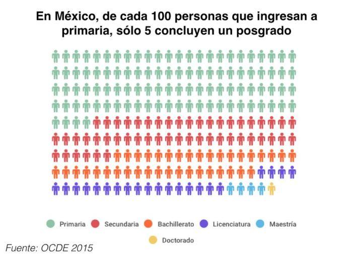 Porcentaje que hacen posgrados