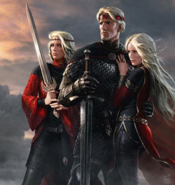 King Aegon and his sisters