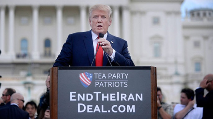 Donald Trump At Capitol Hill Rally Against Iran Deal - Washingto